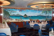 Mural in dining room of cruise ship Thomson Destiny