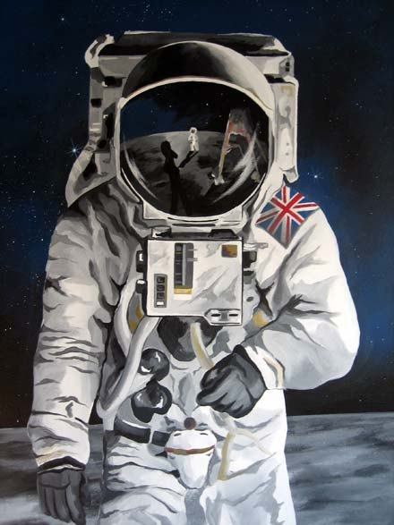 astronaut mural - photo #13
