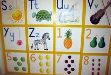 Painted wardrobes of the alphabet