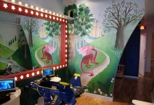 Fantasy mural in Tantrum Children's Hair Salon, London