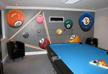 Mural painted in a pool games room in Essex