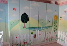 Garden themed nursery mural painted in Hampstead, London
