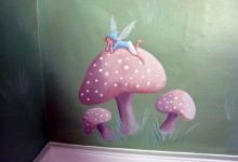 Fairy mural as featured on Channel 4's programme Double your house for half the money.