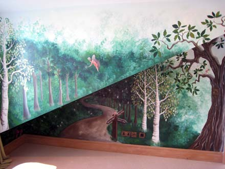 1000 images about enchanted forest on pinterest for Enchanted forest mural wallpaper