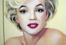 Marilyn Monroe mural painted in a downstairs toilet