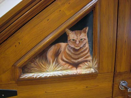 Trompe L Oeil Stables Painted On Understairs Cupboards