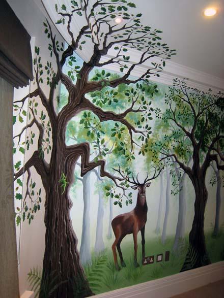 Children S Bedroom Forest Mural