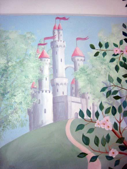 Pin murals fairy woodland wallpaper border mural bottom for Fairy mural wallpaper