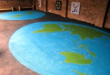 Map of the world for a North London primary school