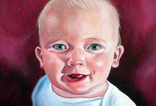 Series of portraits of youngest son