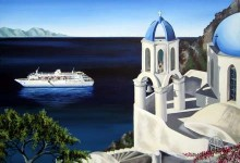 Cruise liner church view