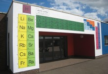 Periodic Table and Solar Sytem mural for Mayfield Secondary School