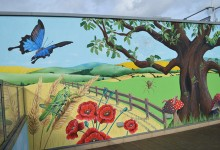 Countryside mural for Winston Way Primary School