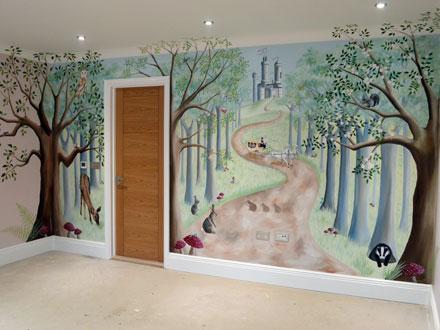 Fairy Forest Mural In Girl S Bedroom