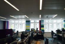 Abstract paintings for offices in Covent Garden