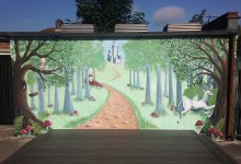 Fantasy mural for Charlton Manor Primary School