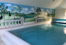 Revamp of mural for an indoor private pool in Hampshire