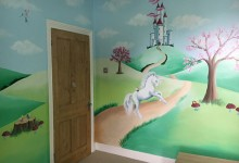 Unicorn fairytale mural